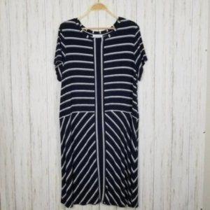Calvin Klein Flowy Striped Shift Dress